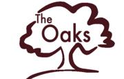 The Oaks logo burgundy