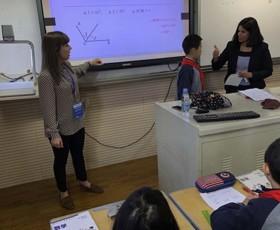 Shanghai exchange sophie and sandhya teaching